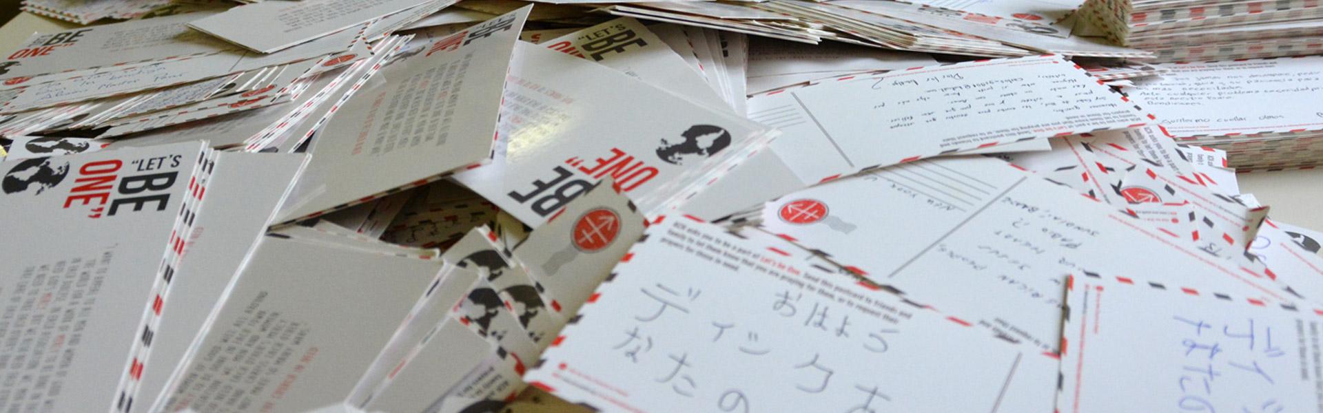 """""""Let's Be One"""": 3.000 postales para la juventud de la iglesia que sufre"""