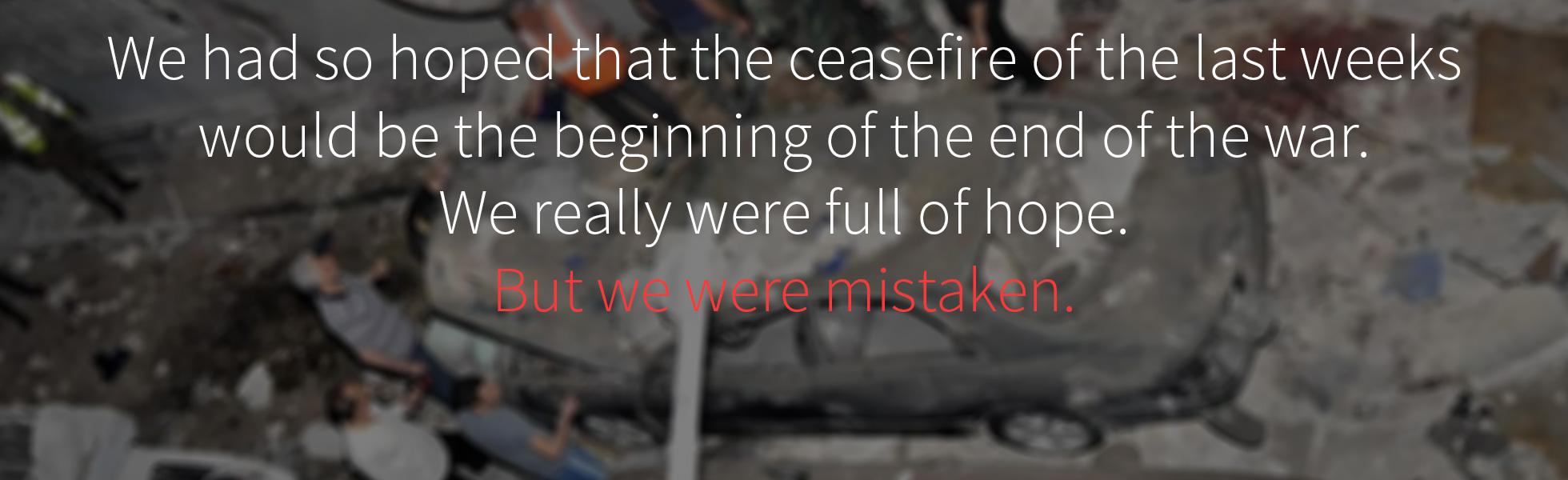 Aleppo – We can take no more