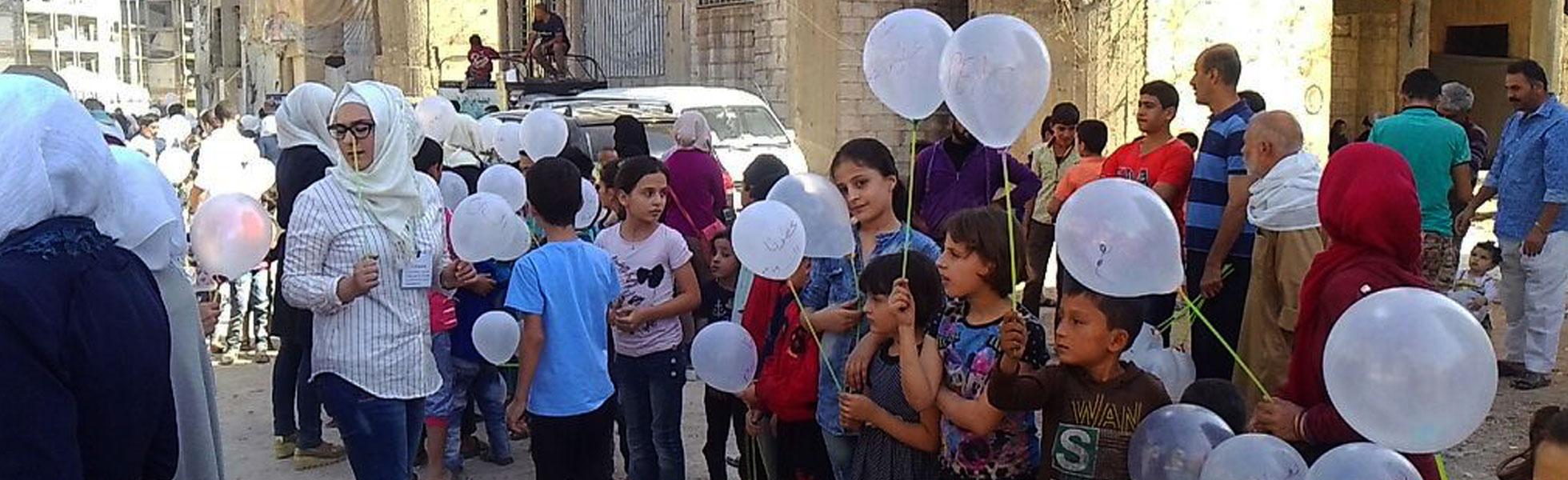 Siria: Más de un millón de niños firman un llamamiento a la paz