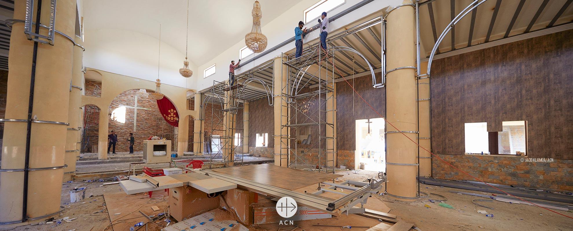 Se inaugura la primera iglesia católica reconstruida en la Llanura del Nínive después de la invasión del IS