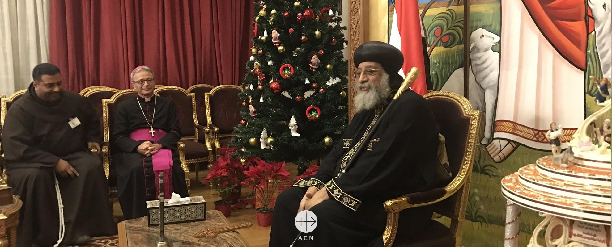 ACN delegation visits Egypt in solidarity with victims of islamic fundamentalism – meeting with Pope Tawadros II