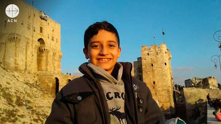 Jad Abed is a 10-year-old Syriac Orthodox boy living in Aleppo, Syria.