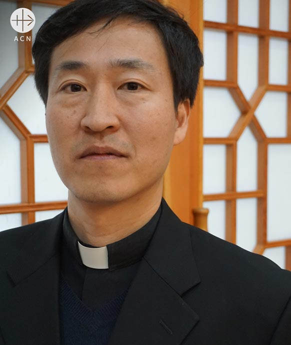Father Kang Ju-Seok, director of the Catholic Northeast Asia Peace and Cooperation Institute