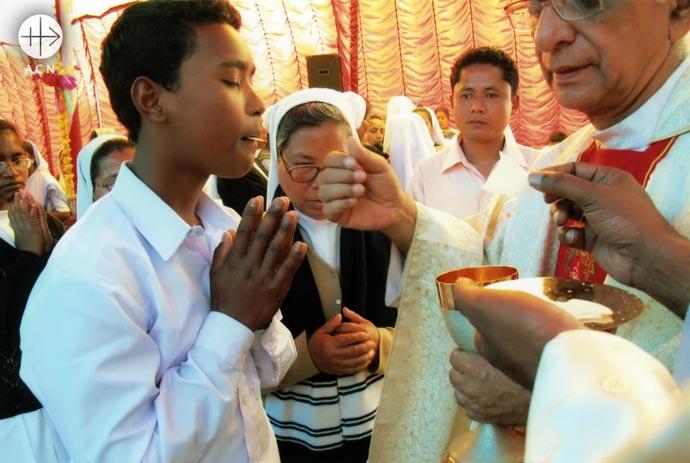 Holy communion. India