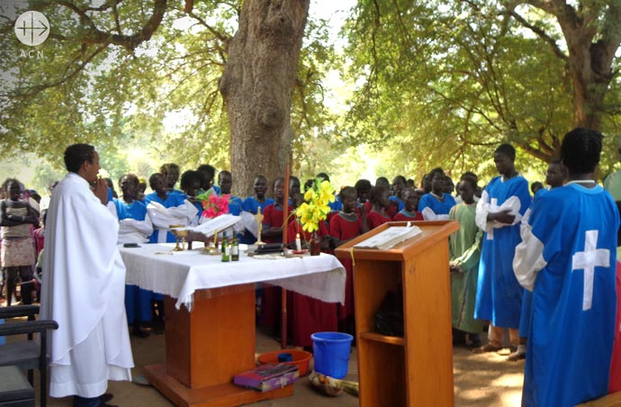 Holy Mass in at Akado village.