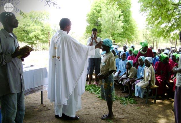 Holy Mass in at Akado village.