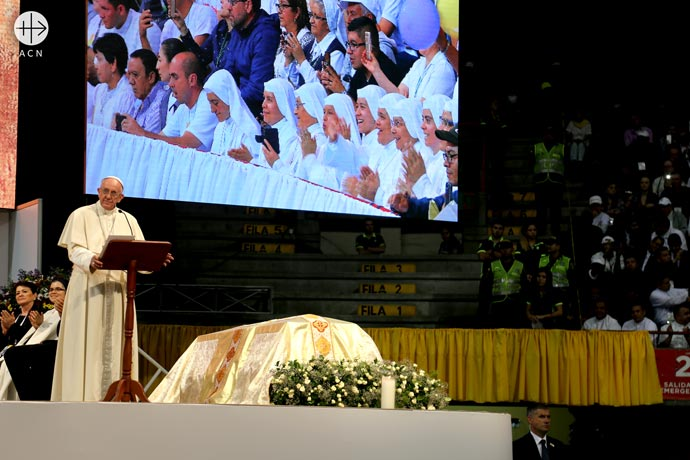 Pope Francis visit to Colombia in September 2017