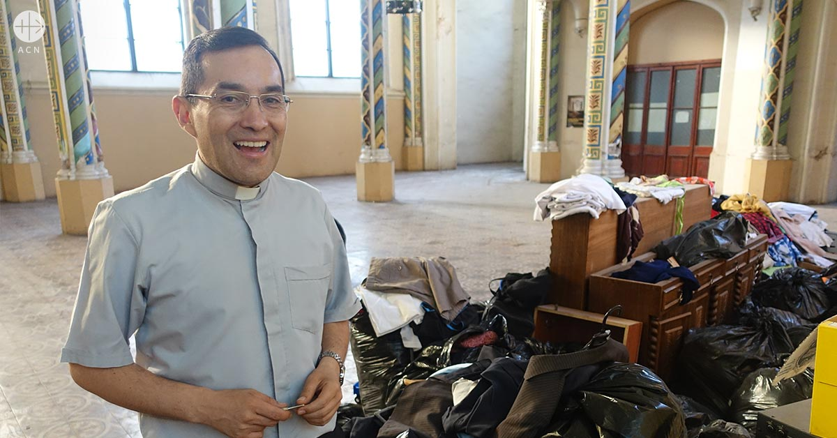 Good shepherd: Father Juan Carlos Cortez still in honeymoon with his priesthood