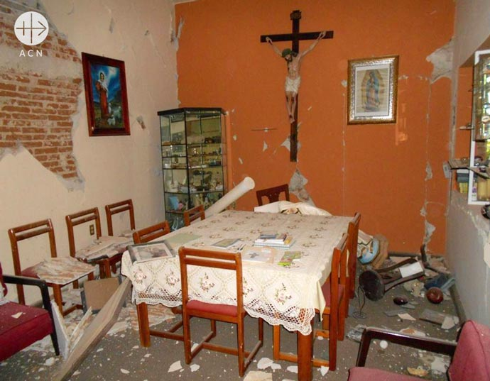 Repair of the mother house, the juniorado and the chapel after the earthquake of September 2017, Discípulas de Jesús Buen Pastor