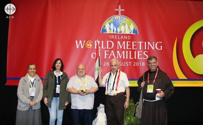 Syrian delegation invited by ACN during the WMOF Dublin