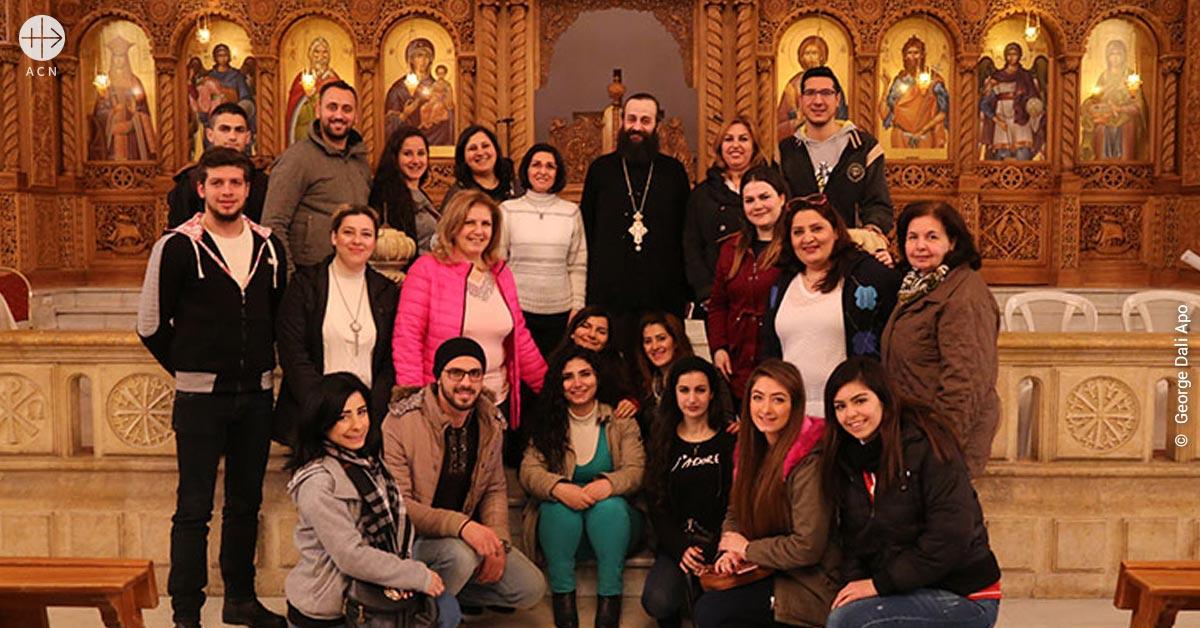"""Jóvenes sirios: """"Necesitamos la compañía de la Iglesia para sentirnos cerca de Dios."""""""