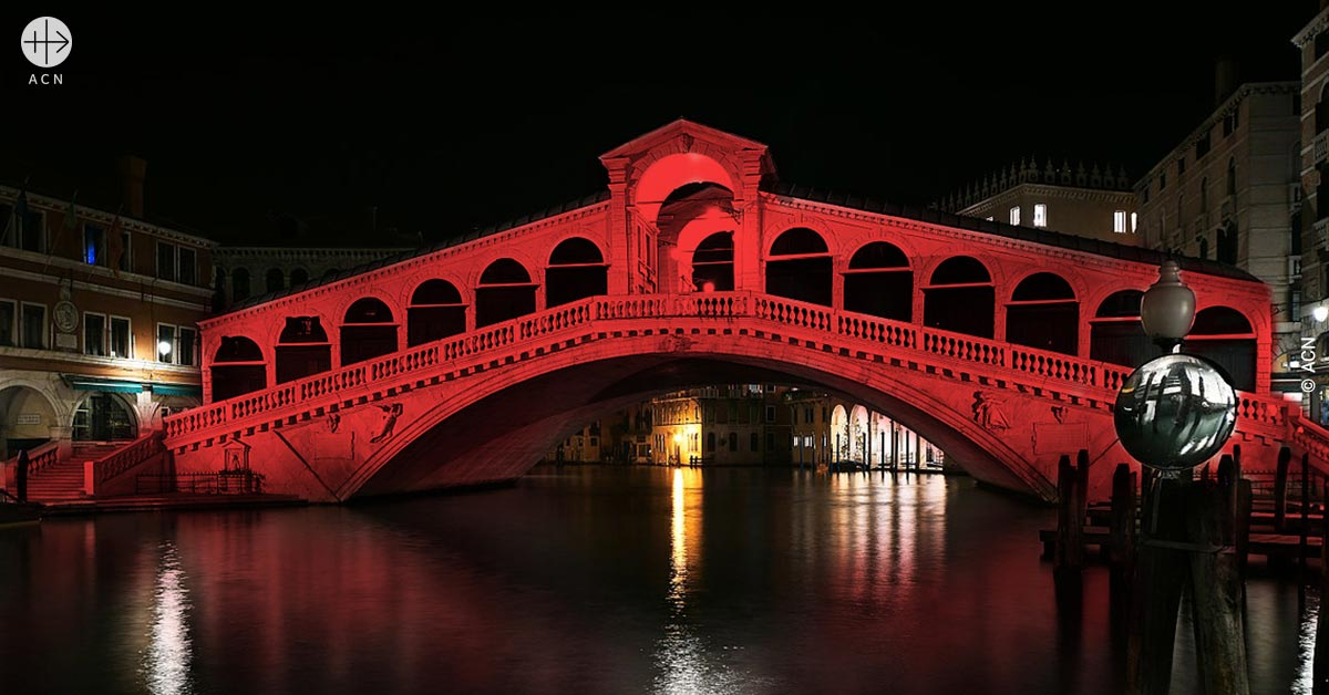 """A message from Pope Francis for the event """"Venice in Red"""""""