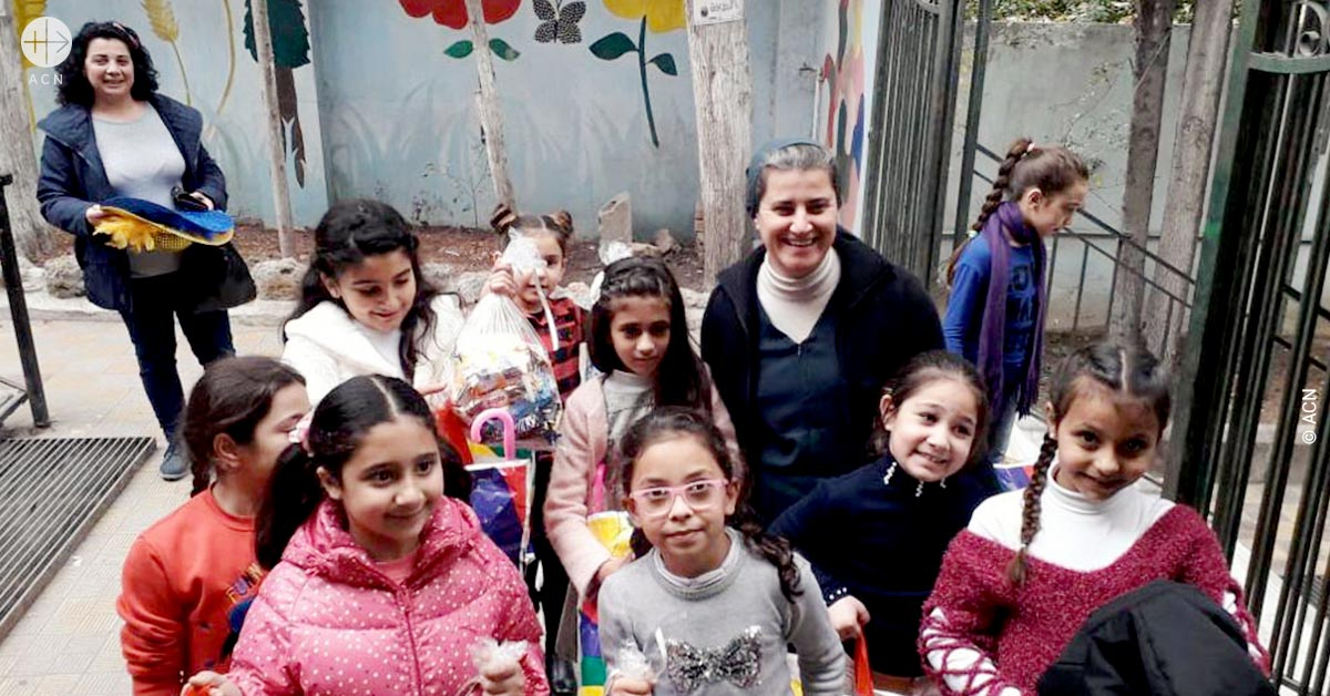 "Syria – Catechesis ""helping to heal the spiritual wounds of the war"", says Sister Samia Syiej"