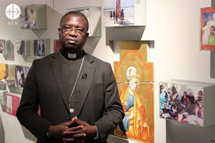 Mgr. Emmanuel Abbo, Bishop of N'Gaoundere, Cameroon, visited in January the Headquarters of ACN.