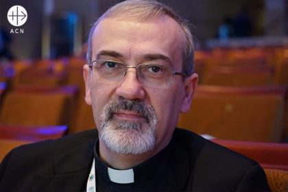 Pierbattista Pizzaballa, O.F.M., Latin Patriarchate of Jerusalem and the Franciscan Custos of the Holy Land.