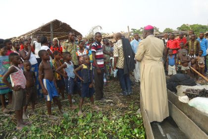 """And he taught them from the boat"" (cf. Lk 5:3): Bishop Ernest Ngboko on one of the islands on the River Congo."