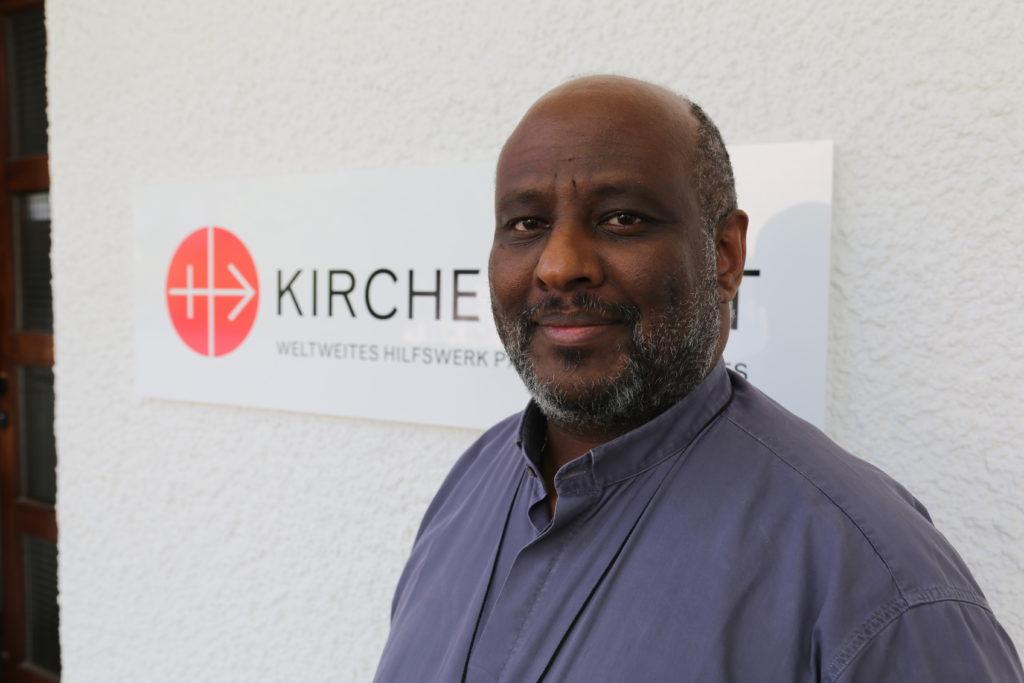 The Catholic priest Mussie Zerai from Eritrea.