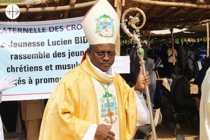Bishop Laurent Birfuoré Dabiré of the diocese of Dori, in the northeast of Burkina Faso.