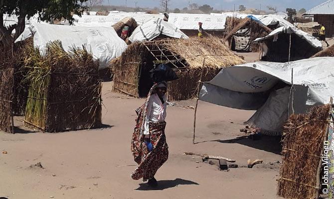 Refugiados internos após os ataques devastadores dos jihadistas na província Cabo Delgado.