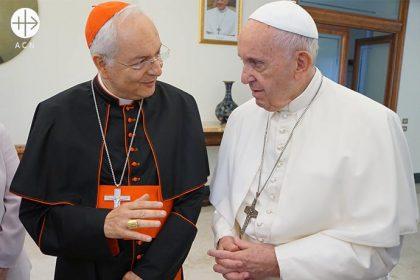 El Papa Francisco se reunió con una delegación de ACN encabezada por el Cardenal Mauro Piacenza.