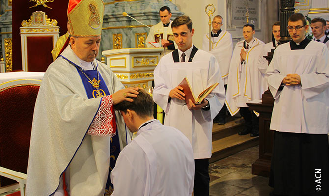 ACN a accordé une aide à la formation pour les séminaristes du diocèse de Hrodna.