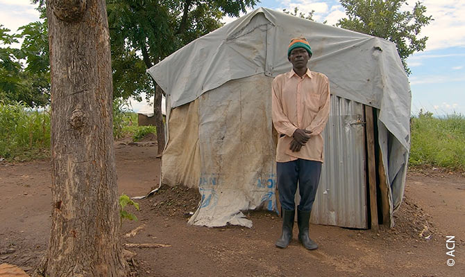 South Sudanese refugee in the Bidi Bidi Refugee Settlement.
