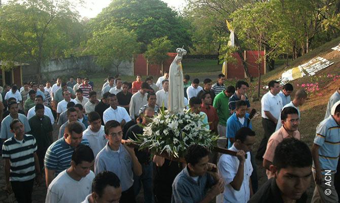 "Seminarians at the Seminary ""Seminario Nuestra Senora de Fatima""."