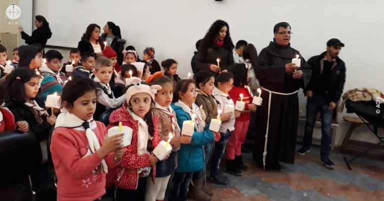 """A """"Bridge of light"""" between Rome and Aleppo – launch of ACN's campaign: Candles for peace in Syria"""