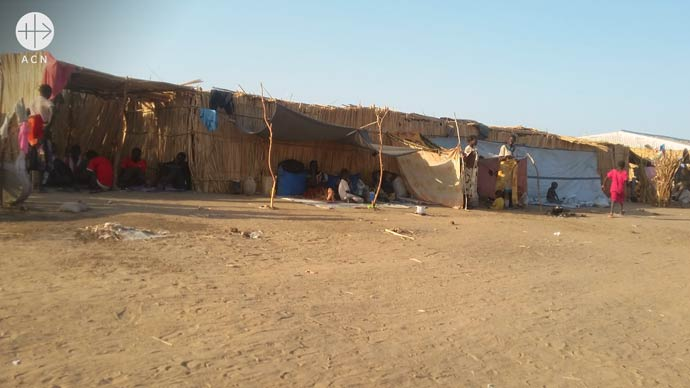 Refugee camp for South Sudanese near Kosti in the diocese of Khartoum in Sudan