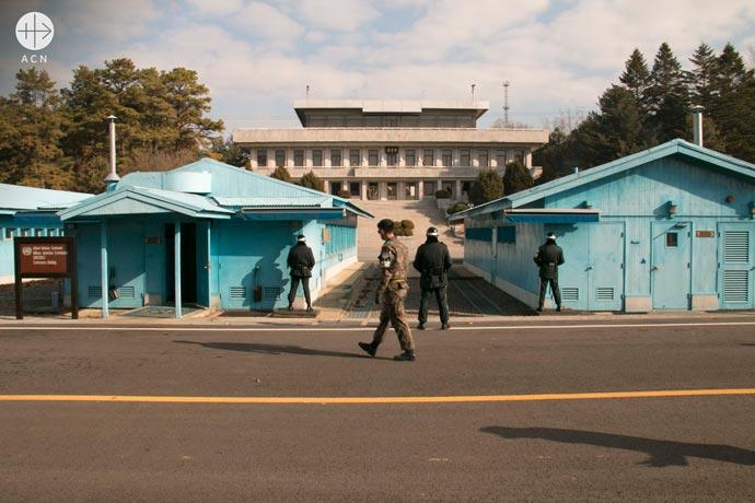 the inner-korean border at Panmunjeom