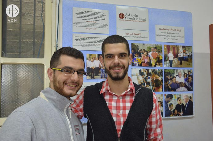 From right to left, Hanna Mallouhi and his brother Raja Mallouhi