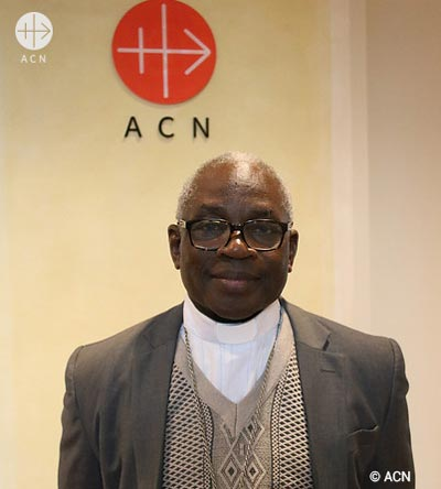 Bishop Raphaël Dabiré, President of the Episcopal Commission for the Clergy and Bishop of the diocese of Diébougou, in the southwest of Burkina Faso.