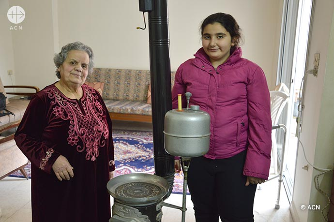 ACN is helping the local Church in Homs to distribute aid for fuel and heating