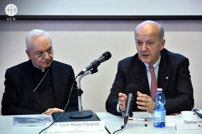 Card. Mauro Piacenza, International President of ACN, and Thomas Heine-Geldern, ACN Executive President.
