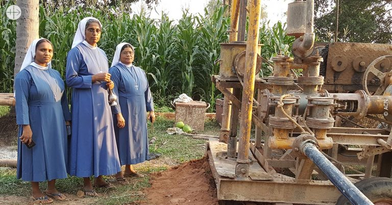 India: a new water well for a boarding school run by Italian sisters in the diocese of Eluru