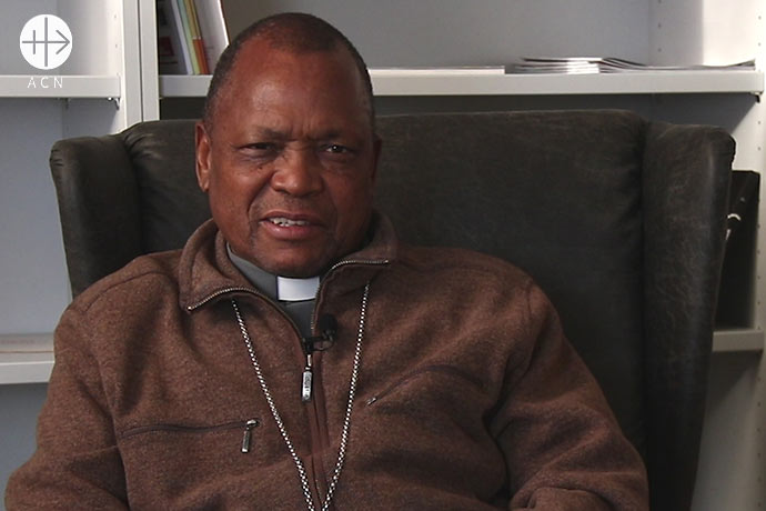 Mgr. Adriano Langa, bishop of the diocese of Inhambane in the south of Mozambique.