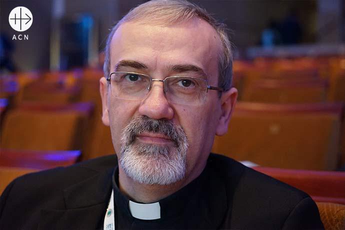 Pierbattista Pizzaballa O.F.M. fue nombrado administrador apostólico del Patriarcado Latino de Jerusalén en Tierra Santa por el papa Francisco el 24 de junio de 2016.