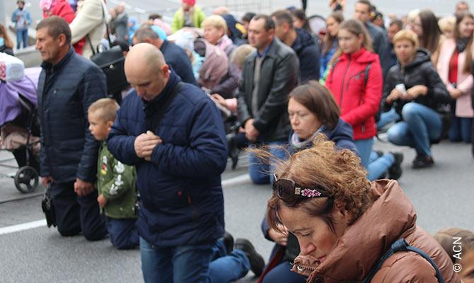 """Ucrania: """"El futuro de la Iglesia es la familia que está unida con Dios""""."""
