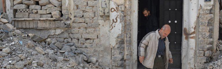SYRIA: the Ghattas family celebrates their first Christmas at home