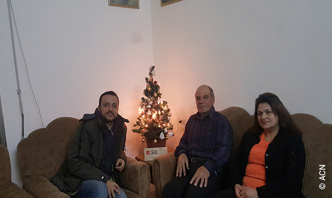 the Ghattas family celebrates their first Christmas at home