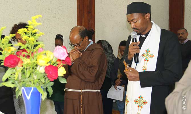 Father Petros Berga, project partner of ACN and priest of the Diocese of Addis Ababa.
