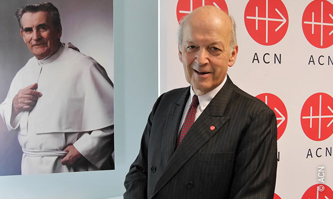 Thomas Heine-Geldern, president of the pontifical foundation Aid to the Church in Need (ACN).