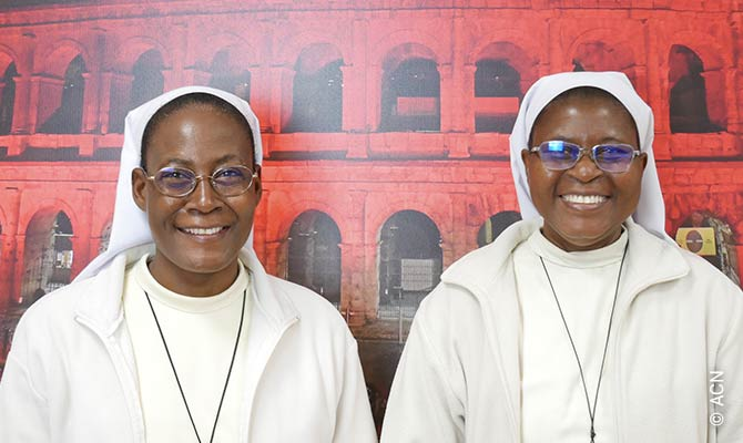 Sister Pauline, the General Superior of the congregation, and with Sister Marie-Bernadette, the former General Superior.