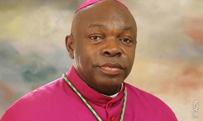 Mons. Augustine Obiora Akubeze, Arzobispo católico de Benin City y presidente de la Conferencia Episcopal Católica de Nigeria.