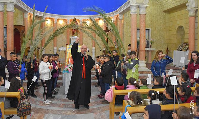 Monsignor Nidal Thomas, Vicar of the Chaldean Church in Al-Jazeera.