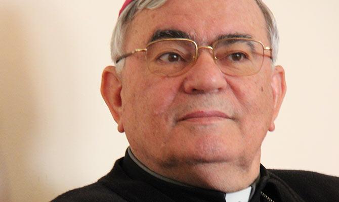 Bischof Marcuzzo, Generalvikar des Lateinischen Patriarchats von Jerusalem und Palästina.