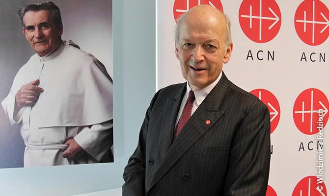 The executive president of ACN International, Dr. Thomas Heine-Geldern.