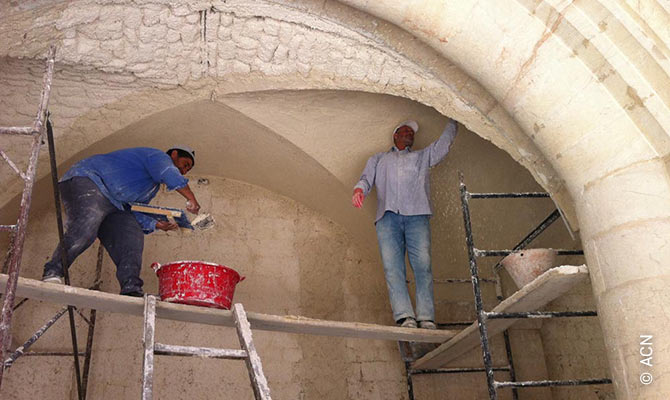 Restoration of the Maronite Cathedral of St Elias in Aleppo.