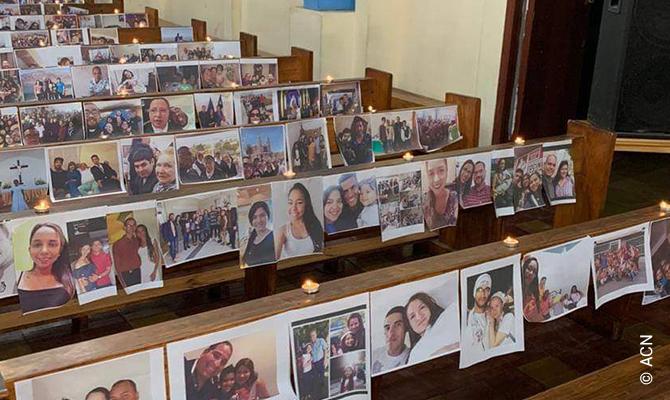 Holy Mass during the coronavirus pandemic in La Serena in June 2020.