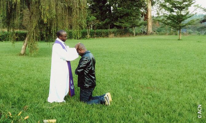 Confession dans l'archidiocèse de Bukavu.